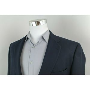 Stafford Navy Blue 2 Gold Button Blazer Mens 44L